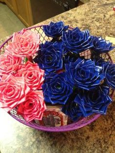 Duct Tape Flower Pens! $3 each!!