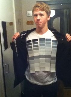 My friends Halloween costume: 50 shades of grey
