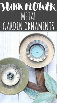 Add some rustic charm to your outdoor space with these junk flower metal garden ornaments. DIY patio decor from old metal and spare parts.