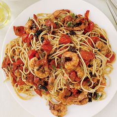 Puttanesca P'schetti with Shrimp
