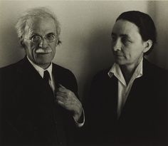 Alfred Stieglitz and Georgia O'Keeffe / by Ansel Adams / c. 1939 / gelatin silver print