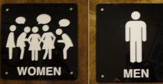 bathroom signs men vs women