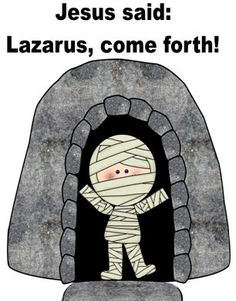 Lazarus Lives Again activity! Also with pictures for the lesson