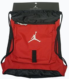 0451063bf8c972 Nike Air Jordan Gymsack Gym Red Black Reflective Silver 612838-695 (SIZE