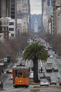 Looking down Market Street San Francisco