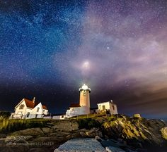 Eastern Point Starry Night  The lighthouse was shining almost as bright as this part of the Milky Way that was right behind it.  This was taken at the Gloucester Fireworks on July 3d.  Image credit: http://ift.tt/29tZ4jc Visit http://ift.tt/1qPHad3 and read how to see the #MilkyWay  #Galaxy #Stars #Nightscape #Astrophotography