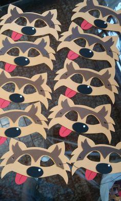 Mascaras lobo para festa tema chapeuzinho vermelho
