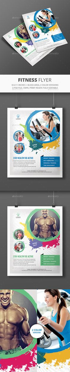 Fitness Flyer Template #design Download: http://graphicriver.net/item/fitness-flyer/12270889?ref=ksioks