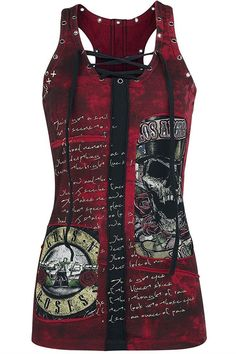 Shirts For Women Short Sleeve Cotton Lace up Patchwork Skull Gothic Rock T Shirt Tops - Tank Wine - - Women's Clothing, Tops & Tees, Tanks & Camis # # Gothic Rock, Skull Fashion, Gothic Fashion, Mode Rock, Heavy Metal, Cool Outfits, Fashion Outfits, Fashion Women, Fashion Clothes