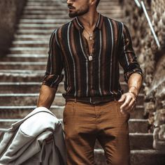 Outfits Casual, Stylish Mens Outfits, Stylish Shirts, Men Casual, Stylish Clothes For Men, Men Fashion Casual, Most Stylish Men, Beach Clothes For Men, Hipster Fashion Guys