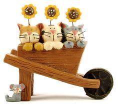 Cats with Sunflowers in Wheelbarrow  $7.99