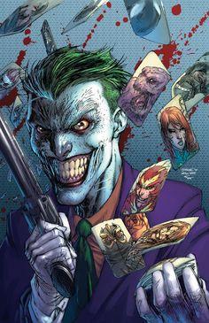 Joker Variant for Suicide Squad cover art by Jim Lee (DC comics) Art Du Joker, Le Joker Batman, Harley Quinn Et Le Joker, Der Joker, Joker Comic, Joker Pics, Batman Art, Batman Robin, Comic Book Characters
