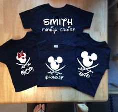 Disney Vacation Family shirts Personalized, Disney  Cruise Shirts, DisneyLand Family Shirts by PinkStarCustomDesign on Etsy