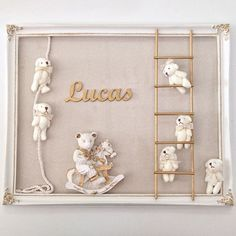 To announce the arrival of baby Lucas . To announce the arrival of baby Lucas … Teddy Bear Maternity Holder. Available in store and WhatsApp / Baby Crafts, Diy And Crafts, Teddy Bear Crafts, Baby Door Hangers, Baby Frame, Dream Baby, Handmade Frames, Frame Crafts, Welcome Baby