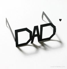 father's day gifts for kids - mr printables typography glasses Happy Fathers Day Cards, Easy Fathers Day Craft, Homemade Fathers Day Gifts, Diy Gifts For Dad, Diy Father's Day Gifts, Father's Day Diy, Easy Crafts For Kids, Gifts For Father, Diy For Kids