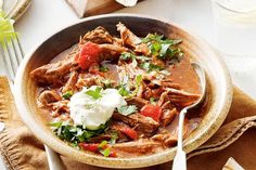 Give traditional slow-cooked roast lamb a Mexican make-over in this hearty iron-rich meal.