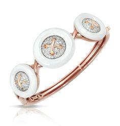 Capri Jewelers Arizona ~ www.caprijewelersaz.com Button White Bangle by Belle Étoile for Glam Style
