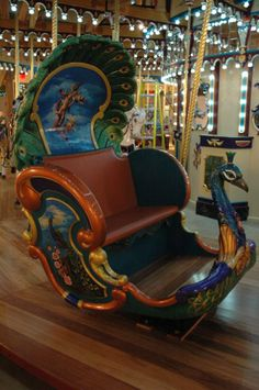 "Beautiful peacock chariot... i know this isnt really like ""furniture"" but if i was a parent or had a little girl i would buy this for her room!!!"