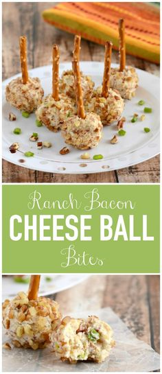 Mini Ranch Bacon Cheese Ball Bites - these tiny appetizers are loaded with everyone's favorite ingredients. Perfect for snacking or entertaining!