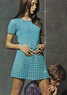 vintage ladies dress  crochet summer wear  for by EnglishCrochet
