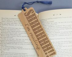 Every Book You Have Ever Read Bookmark - Laser Engraved Alder Wood - Book Mark Best Bookmarks, Creative Bookmarks, Handmade Bookmarks, Corner Bookmarks, 3d Laser Printer, Gravure Laser, Wood Book, Book Markers, Gifts For Readers