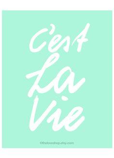 CEST La Vie French citar 8 x 10 pulgadas impresión por theloveshop