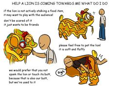 What to do when a lion is coming toward you during a lion dance? #Chinese #culture