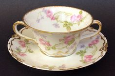 Vintage Tea Cup with Saucer/Haviland by ThroughPlacesandTime