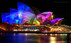 Vivid Sydney in Australia is an annual 18-day event of light, music and ideas which has become Sydney's major winter festival. June 9, 2013