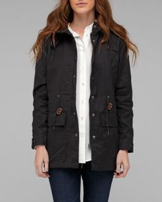 Lifetime Collective 'Rochelle Oiled Canvas' parka. Love.