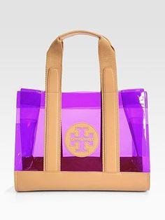 Tory Burch - Jesse Leather Trim Tote Bag - Saks.com