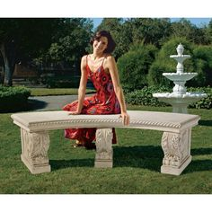 37 best concrete table and benches outdoor images garden benches rh pinterest com