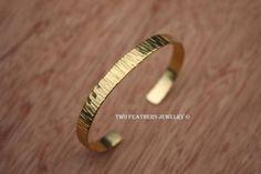 Brass Cuff Bracelet  Gold Brass Cuff  by TwoFeathersJewelry, $19.95 #gold #brass #cuff #bracelet #textured #jewelry #women #teens #minimalist