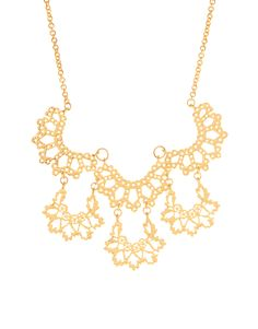 Scalloped Lace Gold Necklace