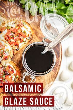 Balsamic glaze requires only 2 ingredients and 15 minutes to make the most flavorful sauce to go on your favorite salads, chicken, vegetables, and more! You're definitely going to want to give this recipe a try. Gluten Free Appetizers, Gluten Free Recipes, Stay At Home Chef, Yummy Chicken Recipes, Balsamic Glaze, Best Dinner Recipes, Chicken And Dumplings, Lemon Chicken, 2 Ingredients