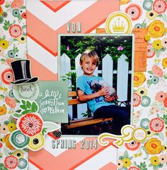 A Little Something Layout by design team member Apryl using Just Sayin I Want It All Bundle by My Mind's Eye found at fotobella.com
