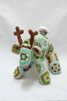 African Flower Crochet Deer Forest Fairy Tale by ZayaLosya on Etsy
