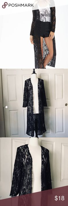 New Forever 21 Black Lace Cardigan Size Small New Forever 21 Black Lace Cardigan Size Small Forever 21 Sweaters Cardigans