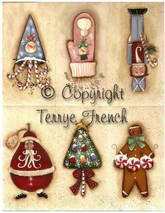 Printable Jolly Tags Painted by Terrye por PaintingWithFriends