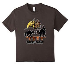 Kids Vintage Halloween Scary Black Cats Horror Gift T-Shi...