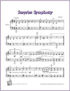 Surprise Symphony (Haydn) | Free Sheet Music for Easy Piano - http://makingmusicfun.net/htm/f_printit_free_printable_sheet_music/suprise-symphony.htm