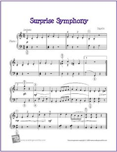 Surprise Symphony (Haydn) | Free Sheet Music for Easy Piano - makingmusicfun.ne...