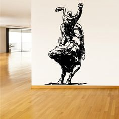 Wall Decal Vinyl Sticker Decals Cowboy Bull Rodeo Detailed (Z1300) StickersForLife http://www.amazon.com/dp/B00E1C13VI/ref=cm_sw_r_pi_dp_sFRevb0K1BM8F