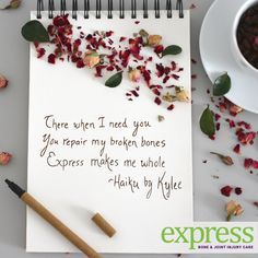 In honor of National Haiku Poetry Day here's a poem about Express Care!  Visit CSOGExpress.com for more details on our walk-in clinic, opening May 7th.  AND come to suite 145 at CSOG North Campus from 2pm-5pm on Friday, May 4th for a backstage preview of our new facility.  *Refreshments will be provided*  P.S. I'm not much of a poet, but I gave this my best shot 😉