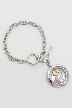 Love Faith Hope Locket Bracelet