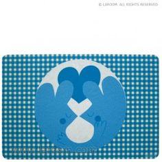 """Laroom - Individual mesa """"guspis mantel azul"""""""