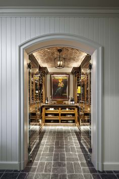 Douglas VanderHorn Architects   French Eclectic Style   Wine Cellar