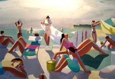 1stdibs | Michael Patterson - Bathing Under The Sun