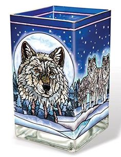 Amia 41730 Hand-Painted Glass Large Circle Suncatcher, Wolf Pack Design, 6-1/2-Inch Amia $24.99  http://smile.amazon.com/dp/B00LDUUE20/ref=cm_sw_r_pi_dp_OuW7tb1S8NM2H