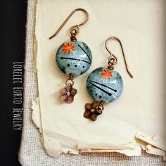 New Lampwork earrings fresh off the studio bench today!